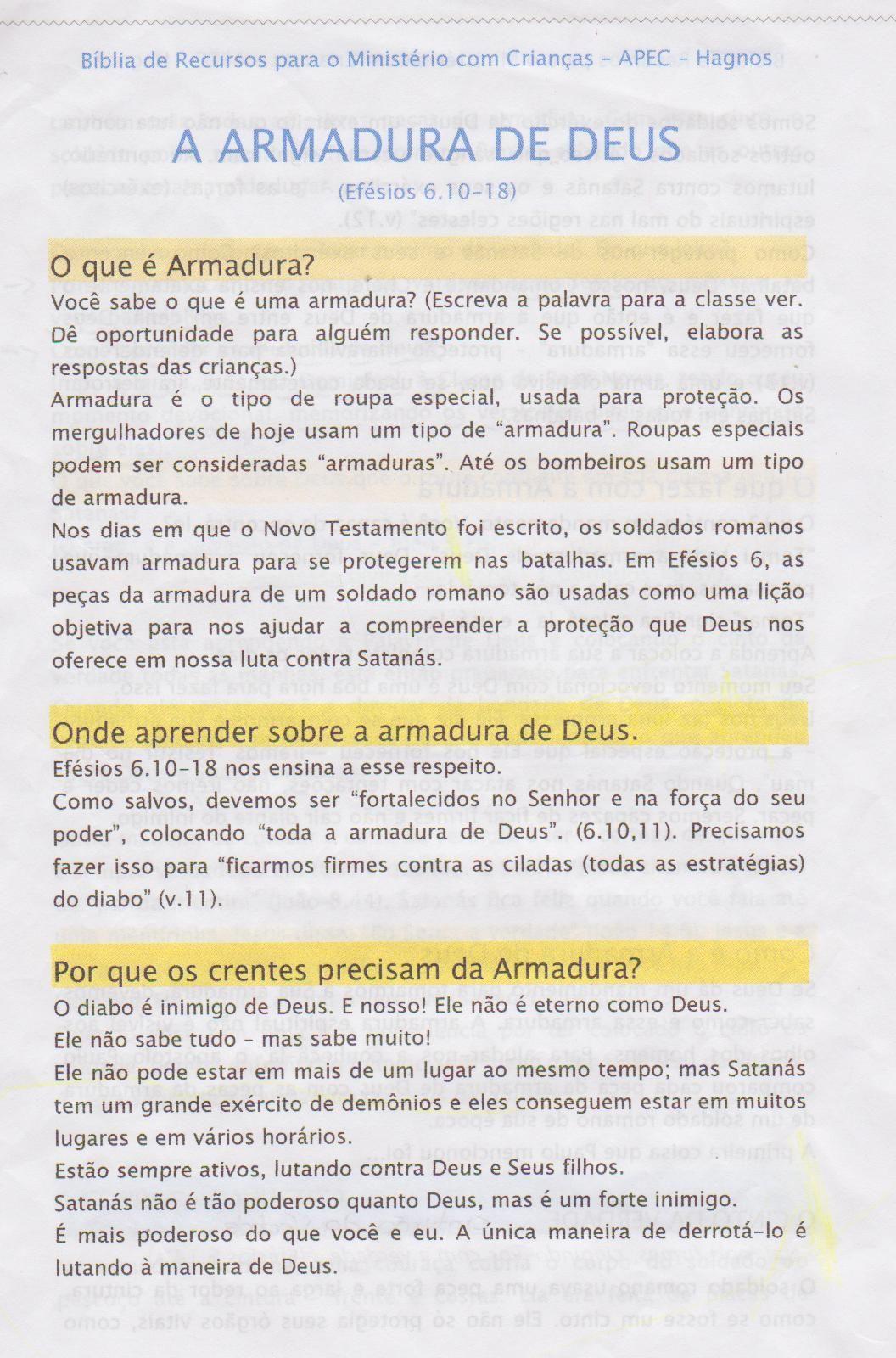 Armadura Do Espirito Com Imagens Armadura De Deus Armadura De