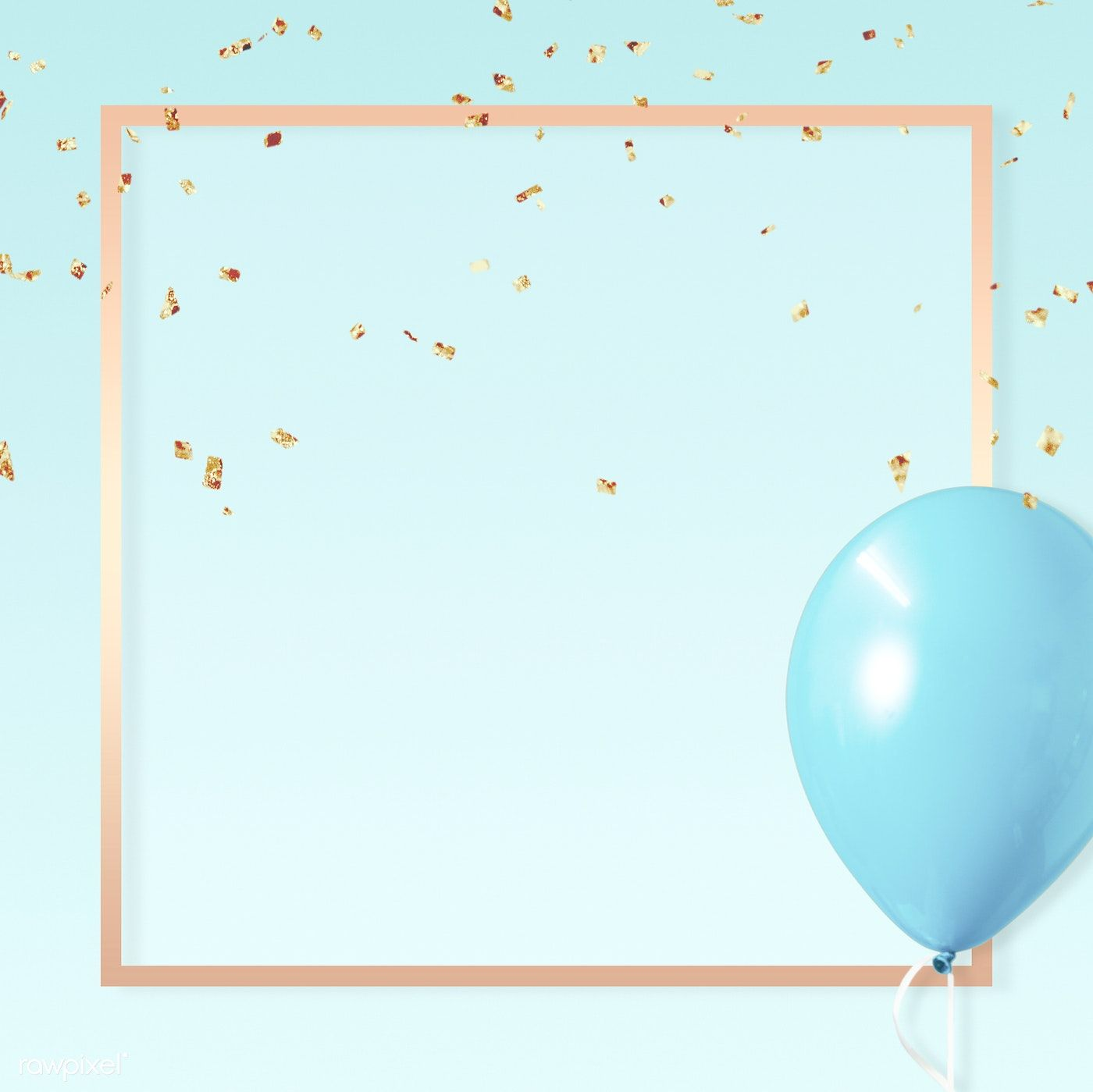 Download premium illustration of Pastel golden square blue