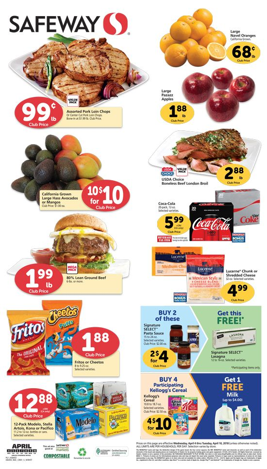 Safeway Weekly Ad Flyer 03/11/20 03/17/20 (With images