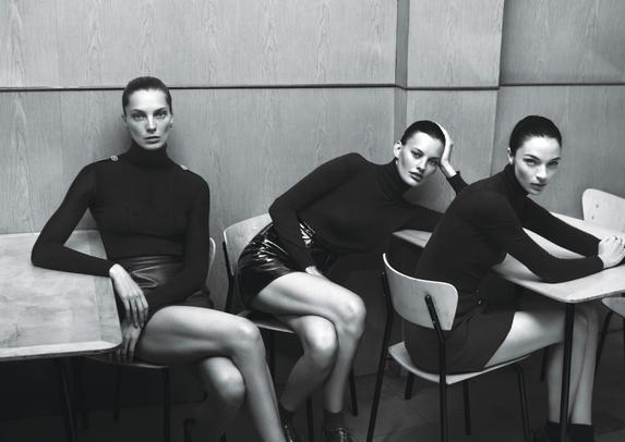 Daria Werbowy, Amanda Murphy and Mariacarla Boscono for W Magazine. Photographed by Mert Alas and Marcus Piggott, styled by Edward Enninful