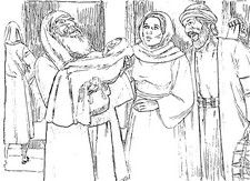 jesus simeon coloring pages