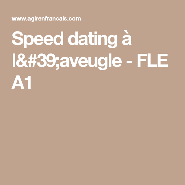 Fle speed dating