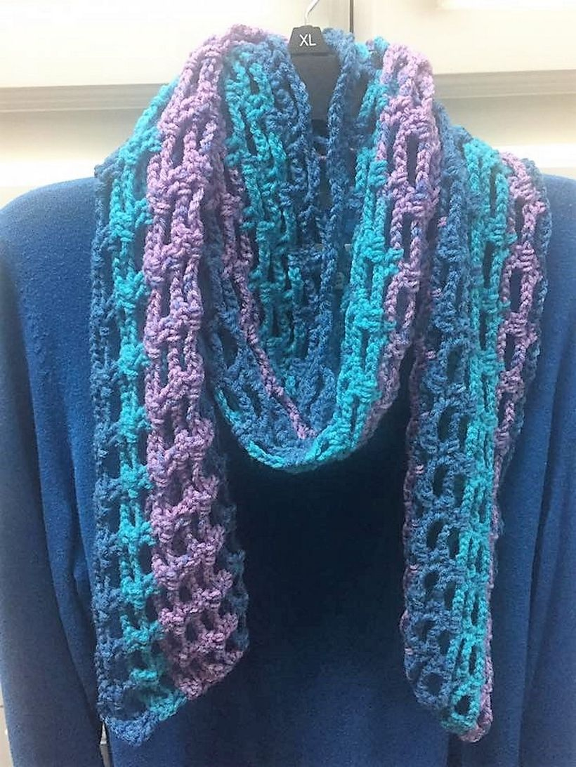 Admiring Designs For Crocheted Scarves Whoot Best Crochet And