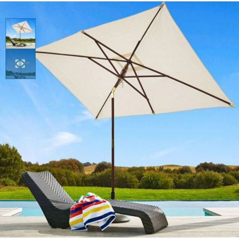 Coolaroo 10 X 7 Ft Market Umbrella 482220 Products Market