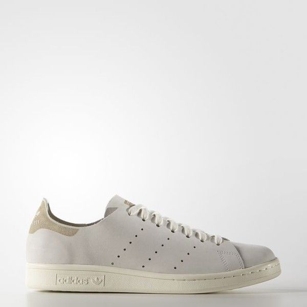 adidas Stan Smith Deconstructed Shoes Off (135 CAD) ❤ liked on Polyvore featuring shoes, genuine leather shoes, perforated leather shoes, adidas shoes, adidas and stripe shoes