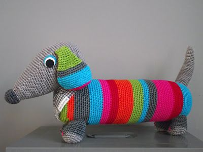 crocheted doxie----for Jennifer S.