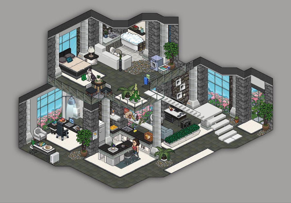 Habbo Luxurious Loft Em 2020 Habbo Habblet Arte Em Pixels