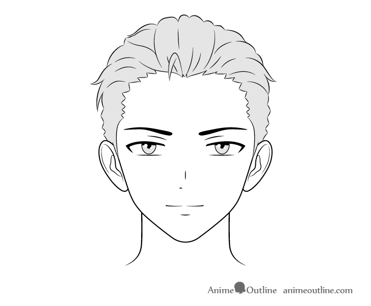 How To Draw Male Anime Characters Step By Step Animeoutline In 2020 Guy Drawing Anime Boy Hair Anime Characters