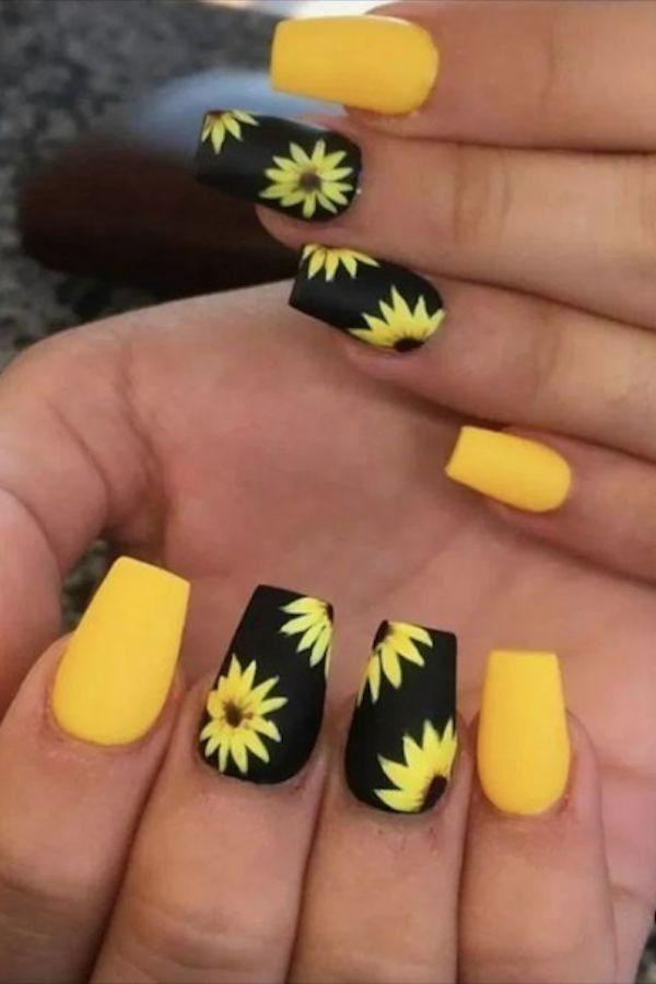 Pin By Fla On Nails In 2020 Yellow Nails Design Yellow Nails Summer Acrylic Nails