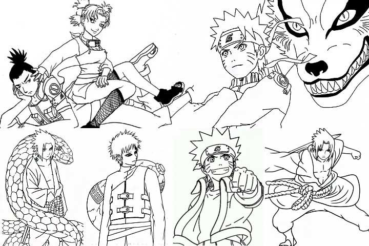 Top 25 Free Printable Naruto Coloring Pages Online Coloring Pages Naruto Drawings Naruto