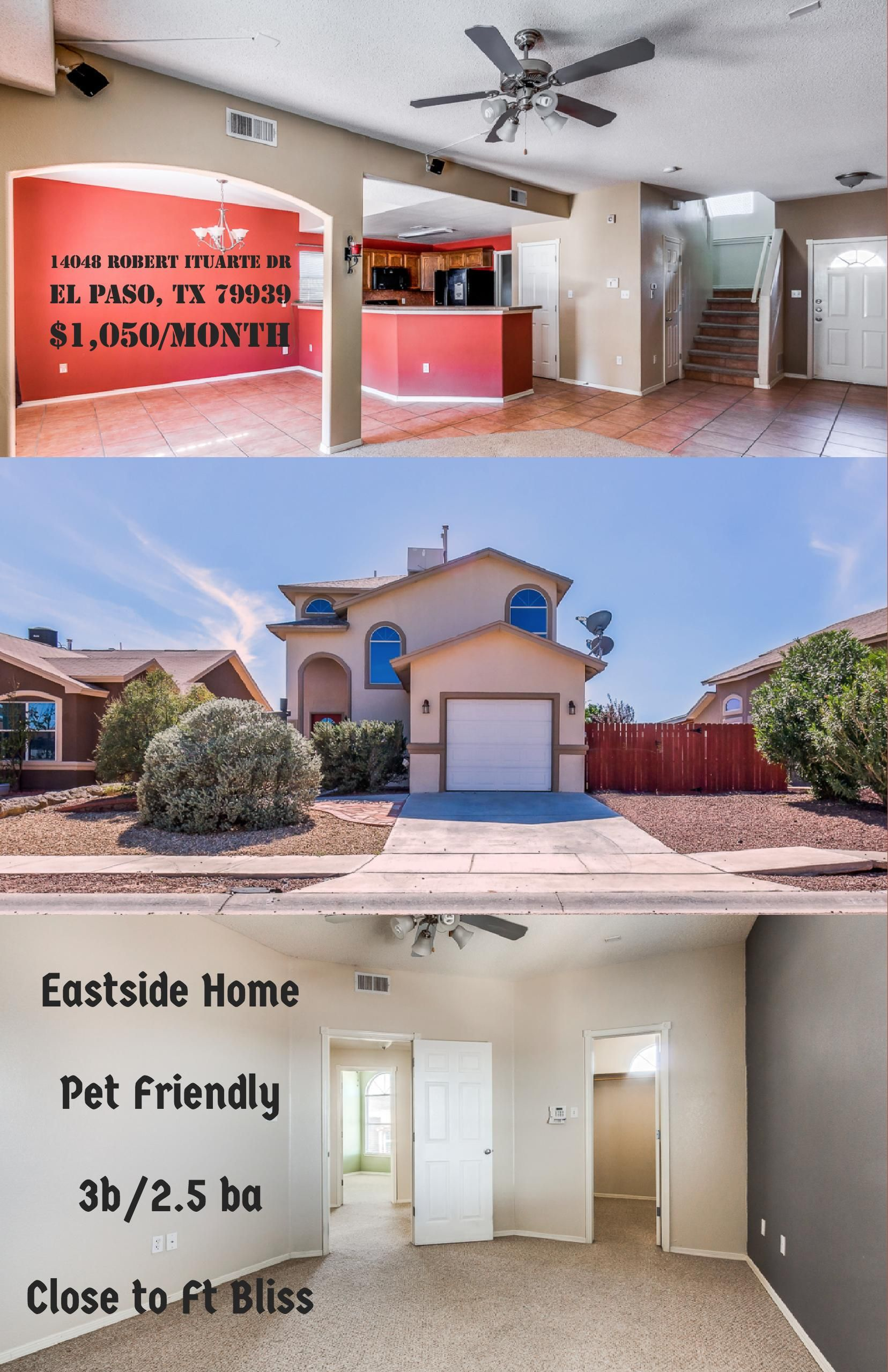 Eastside Home Close To Ft Bliss For Rent Elpaso Elpasotx Itsallgoodelpaso Eastelpaso Fortbliss Home4rent Fort Bliss Housing Renting A House House Rental