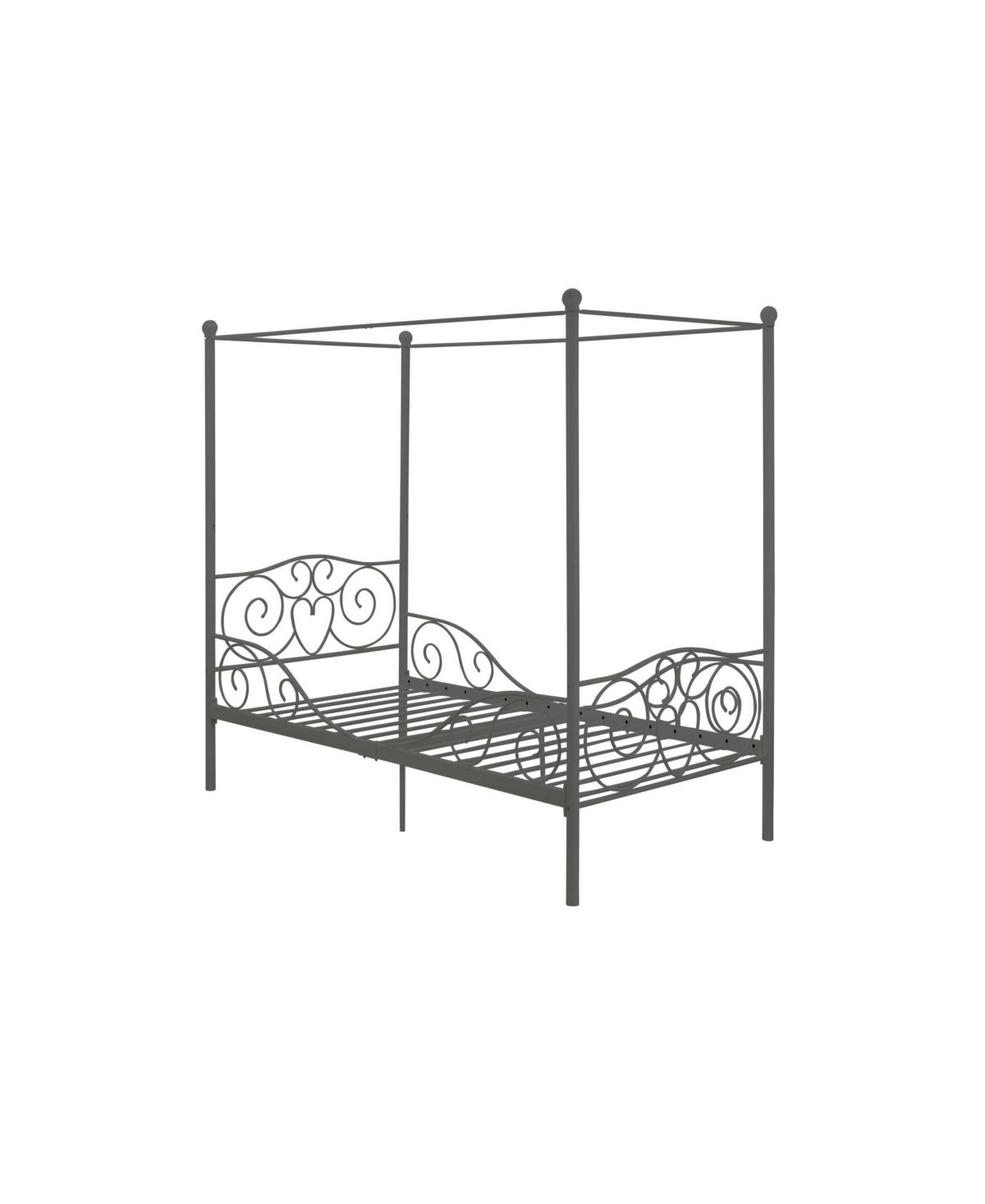 - EveryRoom Whimsical Metal Canopy Bed, Twin Size & Reviews