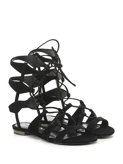 Sandalo Sandals Basso SandalsE SchutzFlat Black bgvf67yY