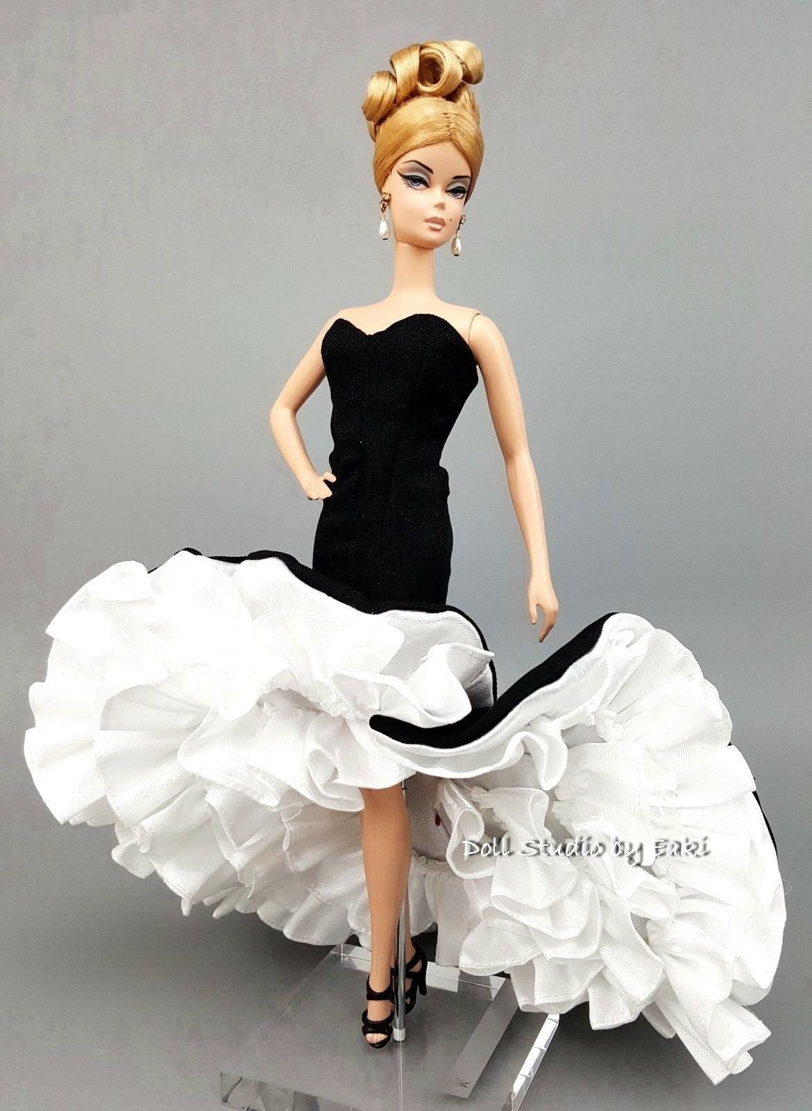 Bride White Lace Gown Evening Dress Outfit Barbie Silkstone Fashion Royalty FR