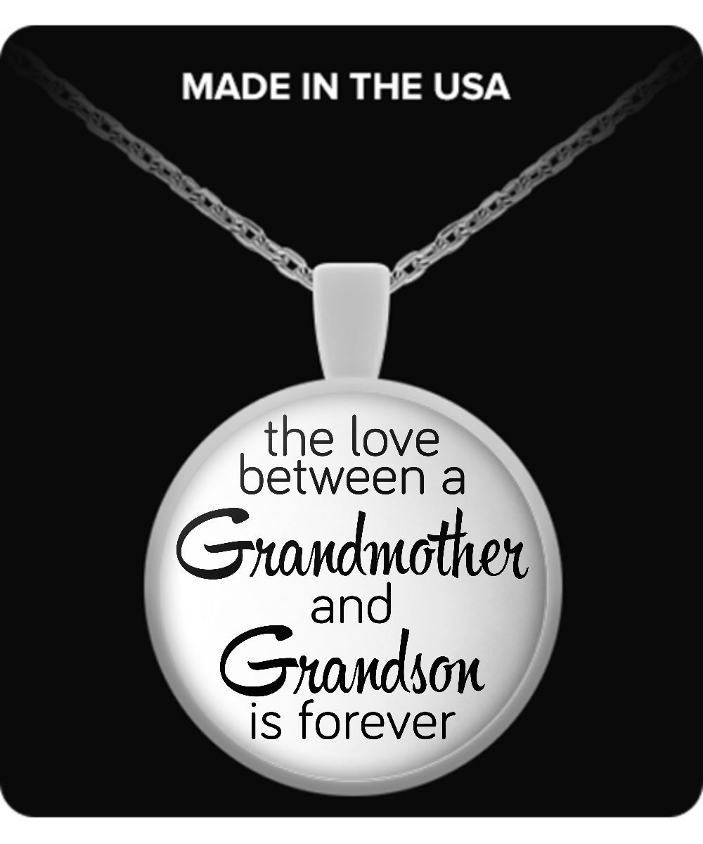 The Love Between Grandmother and Grandson - Round Necklace love-my-grandson-necklace