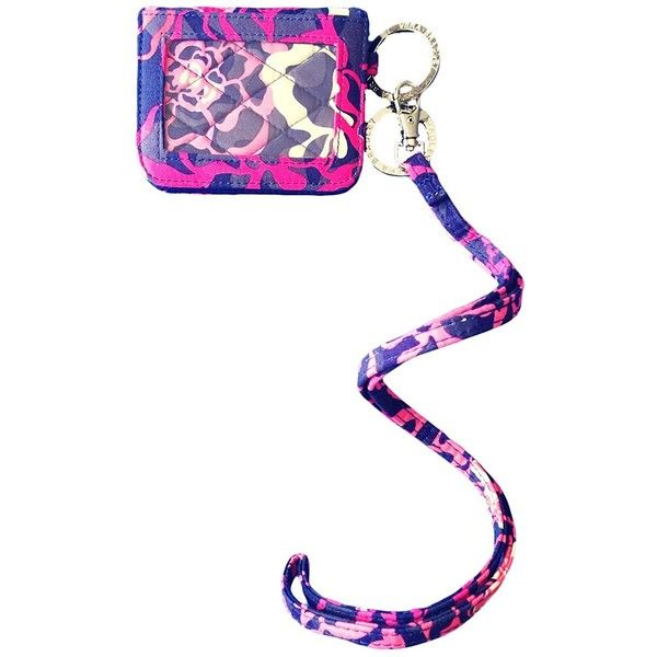 Amazon com: Vera Bradley Campus Double ID and Lanyard in Katalina