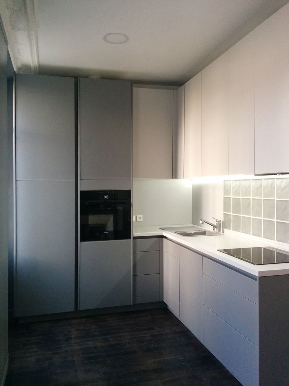 Cuisine ouverte dans un appartement haussmannien Façades Egger ...