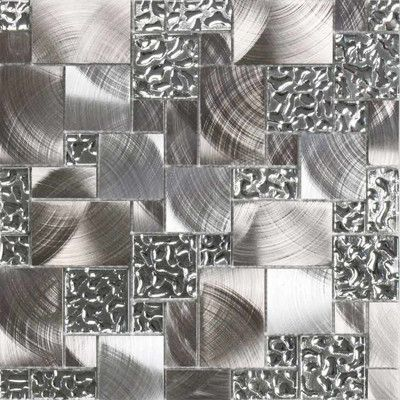 Look What I Found On Wayfair Modern Glass Tile Metal Mosaic Tiles Metal Tile