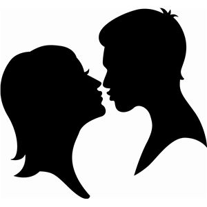 Kissing Couple Silhouette Silhouette Design Kissing Silhouette