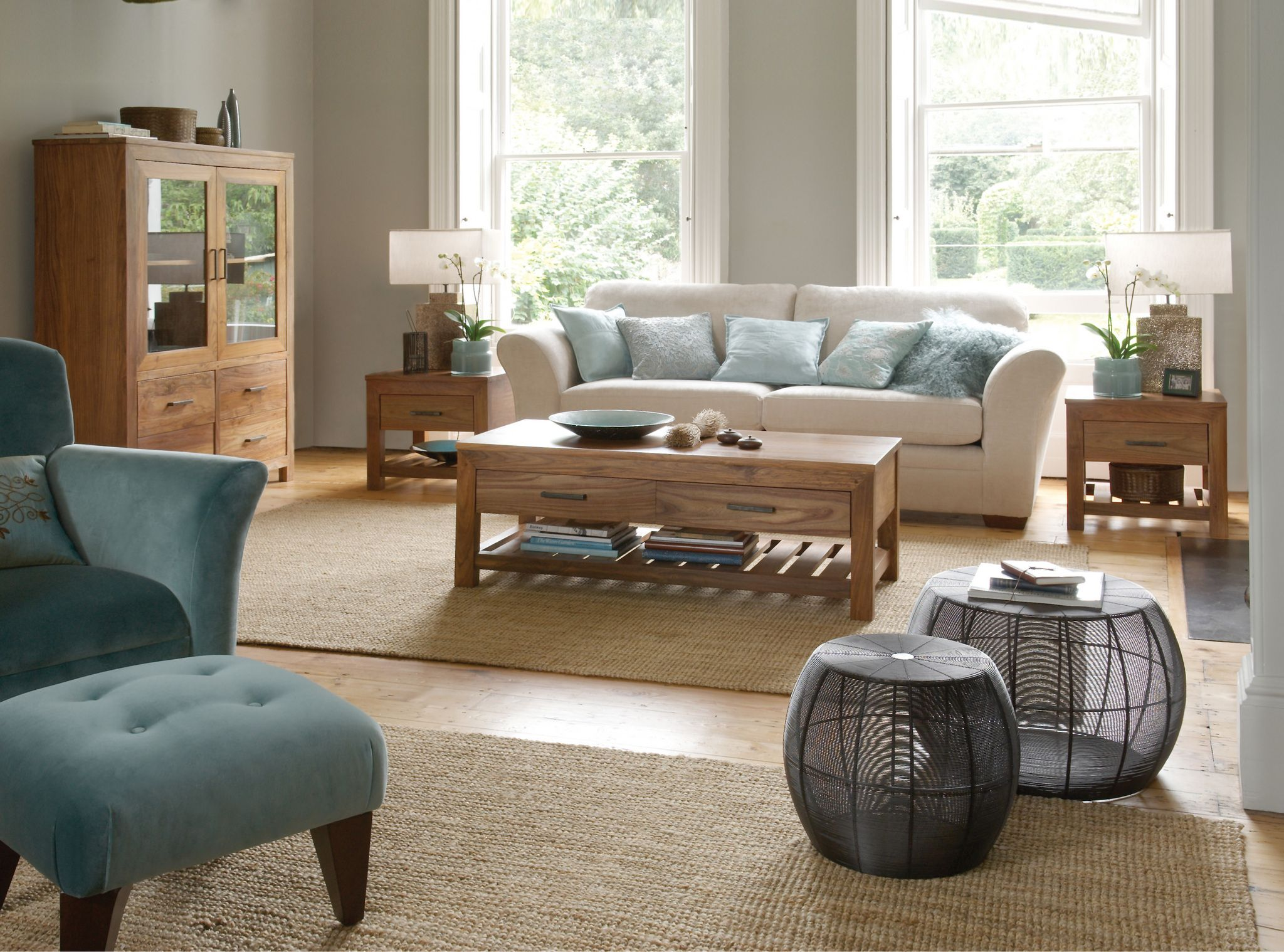 grey and blue living room | Soft grey living room with hints of blue