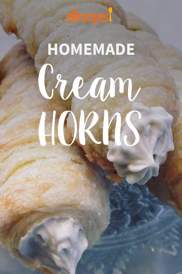 Homemade Cream Horns #creamhorns