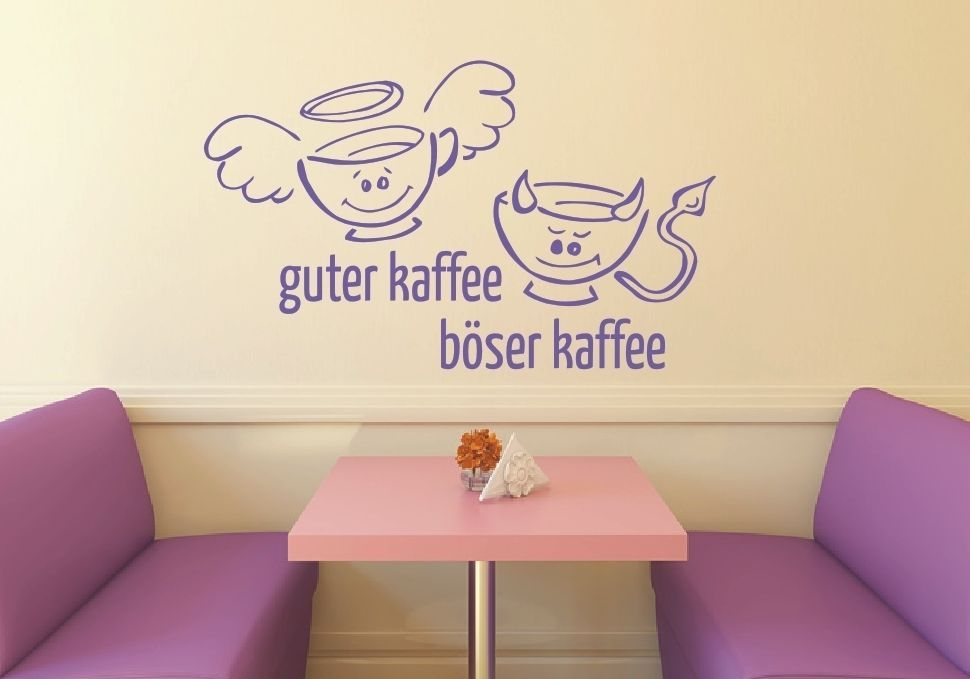 Details zu K91 Küchen Wandtattoo - Tee guter böser Kaffee Küche
