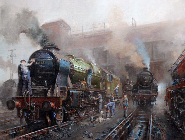 Fine Art Prints of Railway Scenes & Train Portraits ...