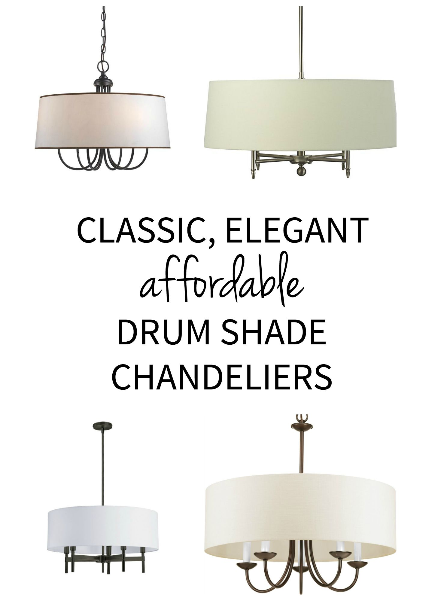 Drum shade chandelier sources drum shade chandelier drum shade classic elegant lighting drum shade chandelier pendants priced on a budget aloadofball Image collections
