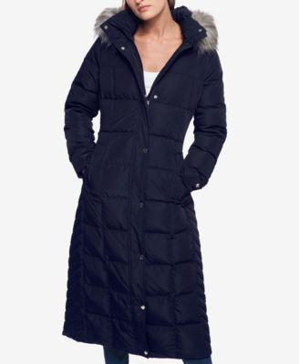 3fb82330733 Tommy Hilfiger Plus Size Faux-Fur-Trimmed Down Maxi Puffer Coat - Black 2X