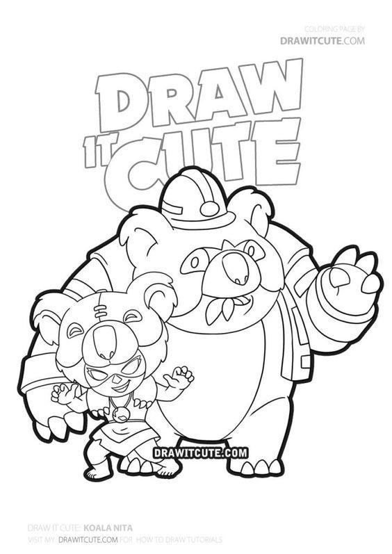 how to draw koala nita skin  brawl stars  draw it cute