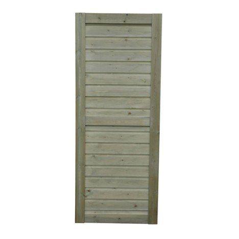 Porte bois de service Quick lam naturel, L81 x H190 cm x Ep40 mm - Peindre Des Portes En Bois