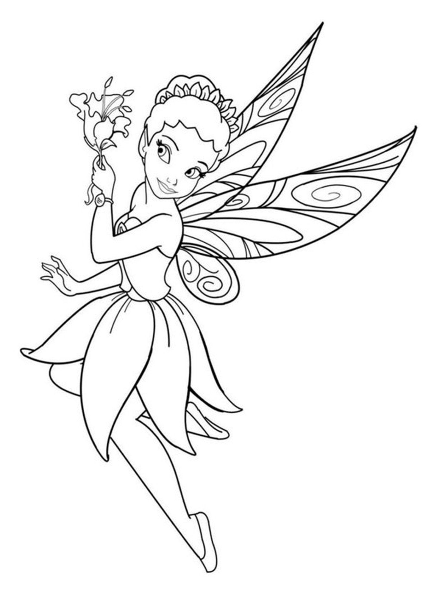 Fairy Coloring Page For Kid Free Easy To Print Fairy Coloring Pages Tulamama Fairy Coloring Pages Fairy Drawings Fairy Coloring Book