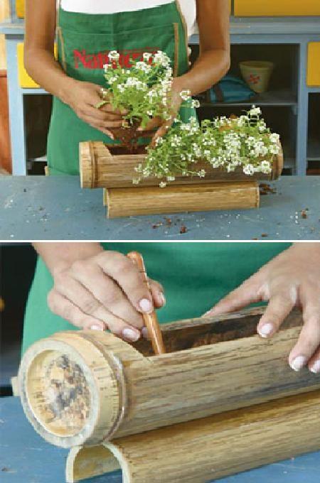 What a cool idea with bamboos Jardines modernos Pinterest - muebles de bambu modernos