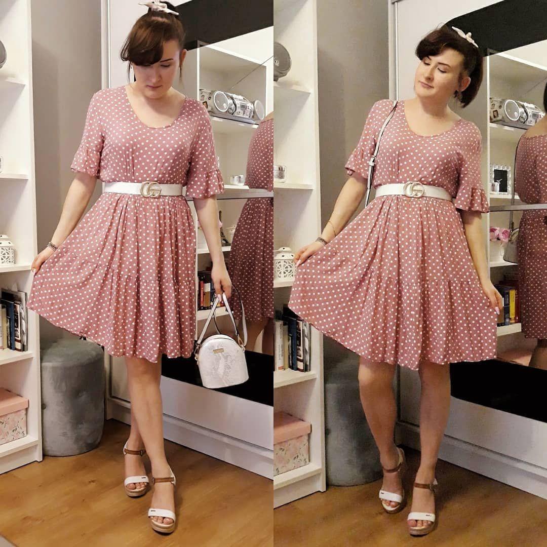 Rozowa Sukienka W Groszki Style Fashion Vintage