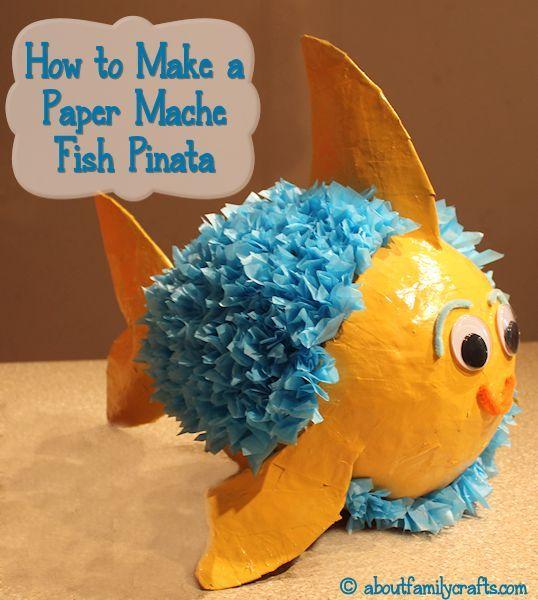 How to make a paper mache pinata fish paper mache for Easy paper mache crafts