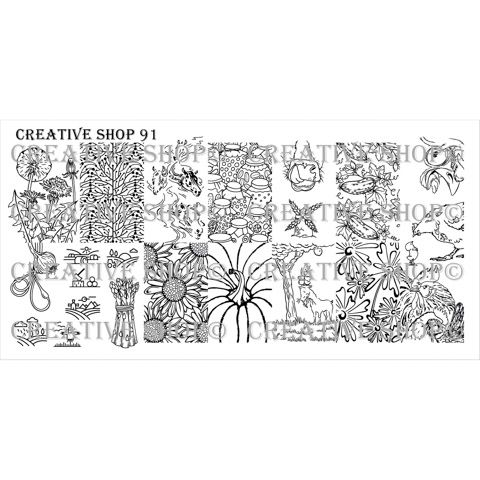 Creative Shop- Stamping Plate- 91