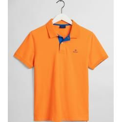 Photo of Gant Kontrast Piqué Rugger Poloshirt (Orange) Gant