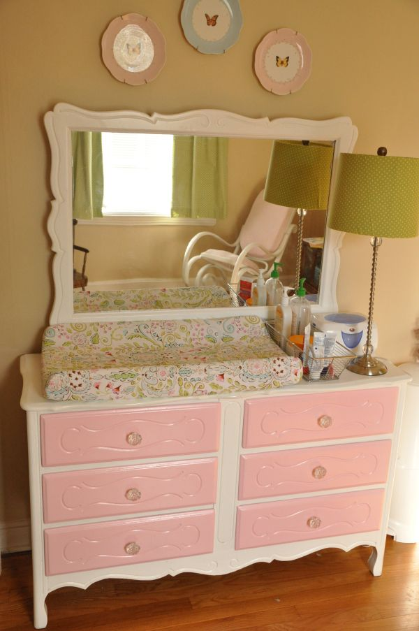 Baby Girl Nursery Dresser / Changing Table Revamp | Ideas