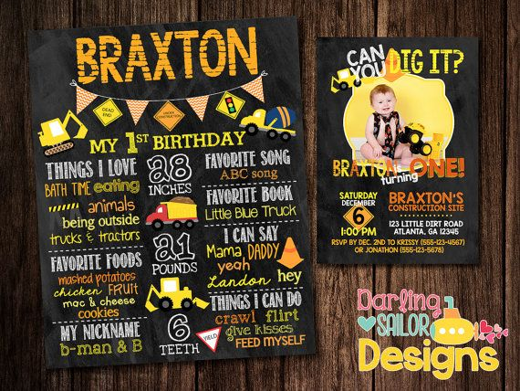 Birthday Chalkboard Poster And Invitation By Darlingsailordesigns Chalkboard Poster Birthday Birthday Chalkboard Chalkboard Poster