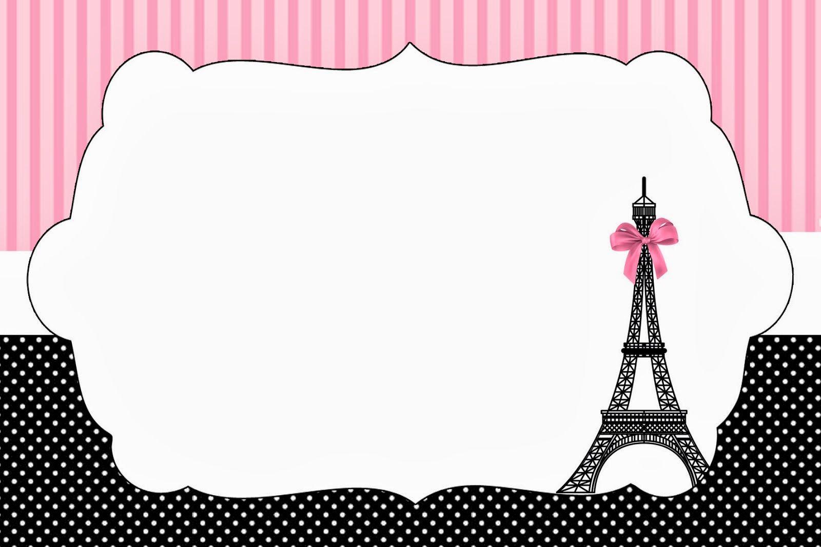 París Imprimibles E Invitaciones Para Imprimir Gratis