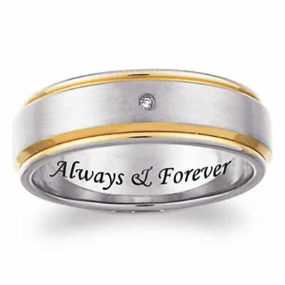 8MM Titanium steel DAD Ring,Ring for Dad,Personalized Ring,Father/'s Day Gift,Free Laser Lettering,Custom Name,Black,Gold,Rose Gold