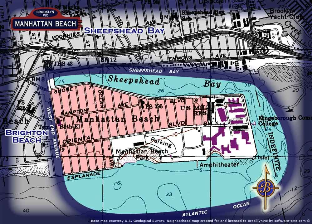 Neighborhood Borders Map For Manhattan Beach Kingsborough History