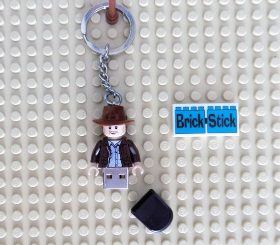 Lego Indiana Jones 16gb Usb Stick On Key Chain By Brickstick Lego