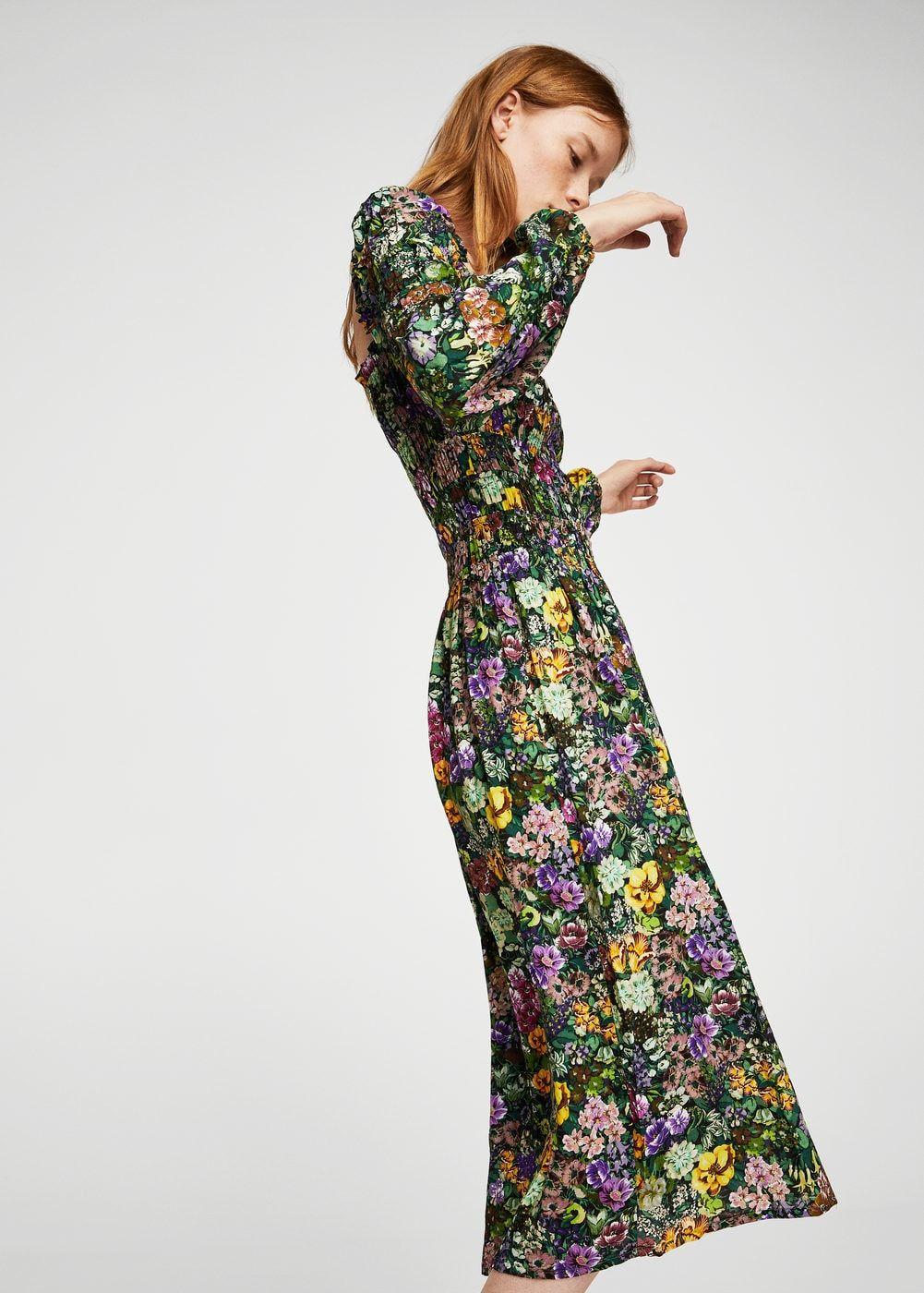 Floral print dress - Women   Mango, Österreich und Kleider damen