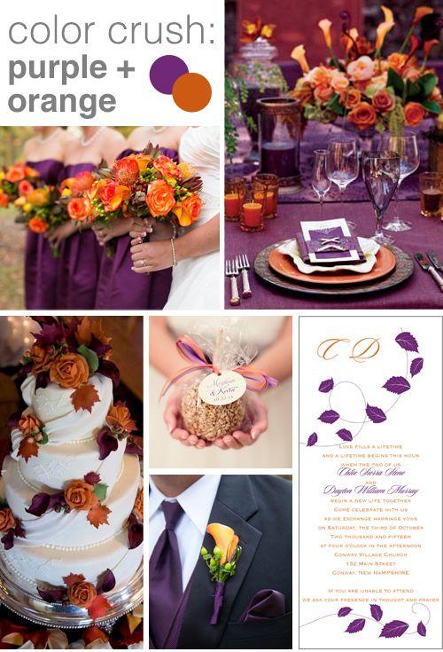 Color Crush: Purple and Orange | Orange wedding colors, Crushes ...