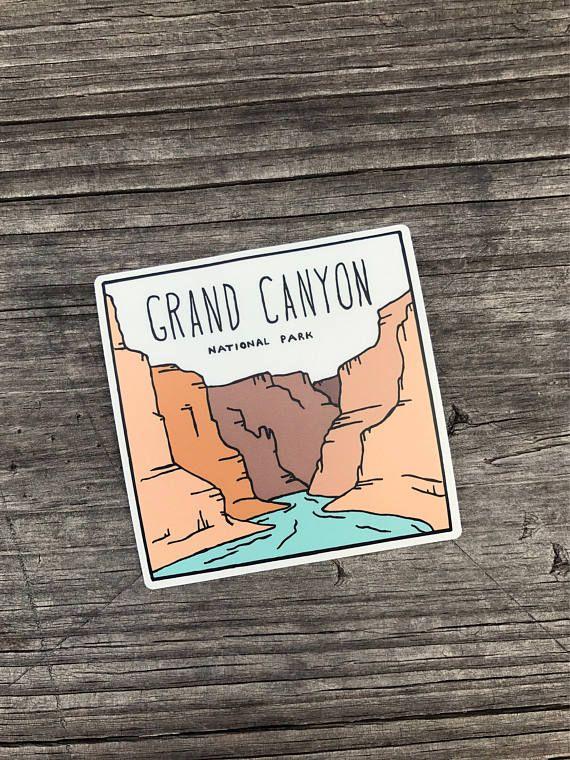 Grand Canyon National Park. Vinyl Sticker Arizona Desert Car Decal ...