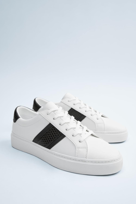 Biale Buty Sportowe Zara Polska Sneakers Black And White Sneakers White Plimsolls