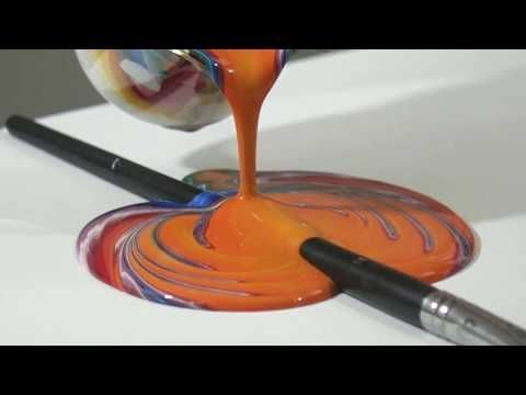 Speed Painting Abstract Painting Using Aluminum Foil Youtube