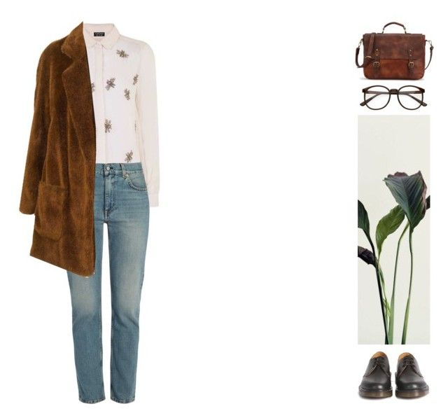 """#580"" by ginadav ❤ liked on Polyvore featuring Topshop, Acne Studios and Dr. Martens"