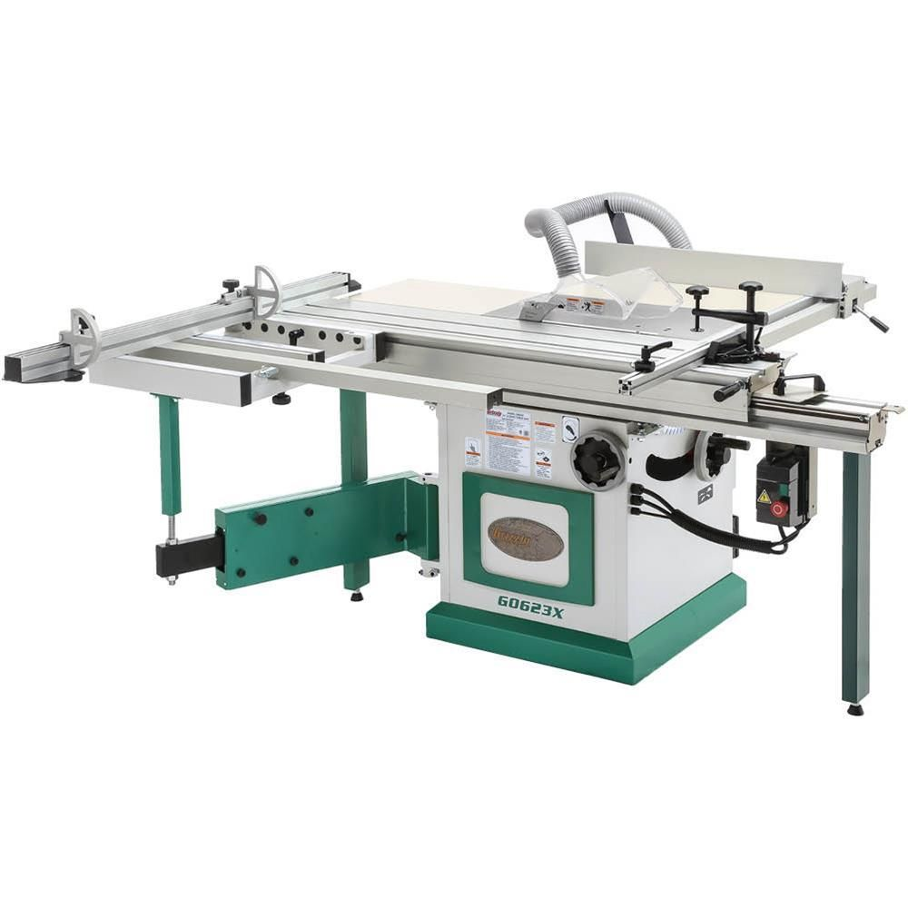 Grizzly Industrial 10 In 5 Hp 230 Volt Sliding Table Saw In 2020 Sliding Table Saw Sliding Table Table Saw